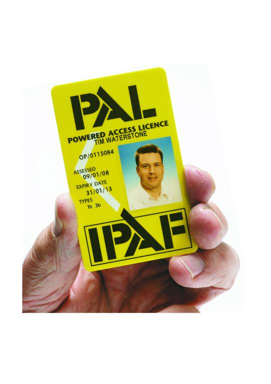 IPAF PAL CARD image